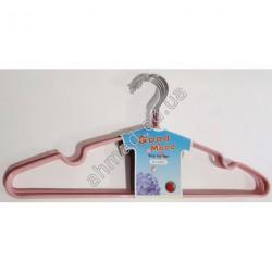A1225 вешалка для одежды цветная силикон 40см 12шт